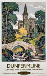 Dunfermline, Scotland, Vintage Scottish Railway Travel Poster Print